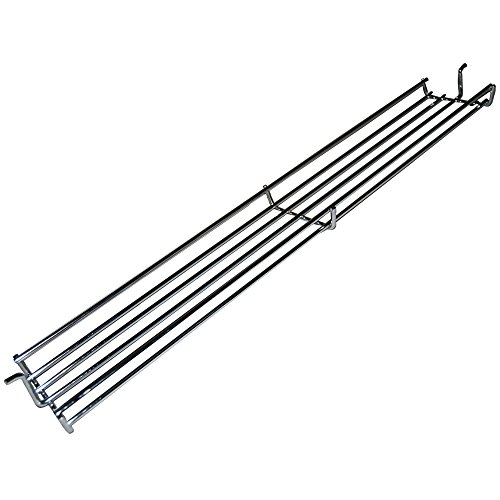 Chrome Steel Wire Warming Rack 0236 for Select Weber Gas Grill Models by Music City Metals