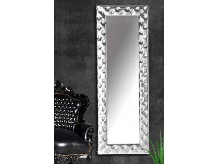 Miroir capitonné Strass simili cuir blanc 170x60 cm Couleur ...