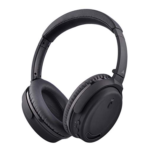 [2019 New Upgraded] Avantree ANC032 Active Noise Cancelling Headphones, ANC Wireless Wired Bluetooth Headphones Over Ear with Mic, Comfortable Foldable, 18Hrs for Travel Work TV Computer Cellphone