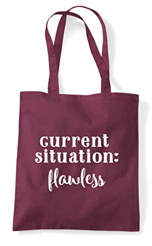 Flawless Bag Statement Current Situation Shopper Tote Burgundy 5pRqWFfw1W