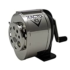 Engineered for everyday dependability, the X-ACTO KS Manual Pencil Sharpener is built to meet the demands of high-volume environments. The classic classroom sharpener, the X-ACTO KS Manual utilizes dual hardened helical cutters to efficiently...