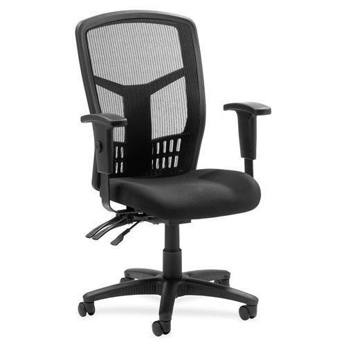 86200 Lorell 86000 Series Executive Mesh Back Chair - Black - Mesh Fabric Black Seat - Black Frame - 28.5