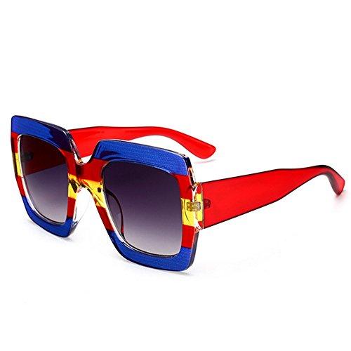 de Sol Conducir protección para Las Ojos de Godbb del para Vacaciones la Playa de de Mujeres del Irregulares Tonos Ultravioleta Moda la polígono Personalidad Lentes la Proteccion de de Verano C1 Las THCWRXH