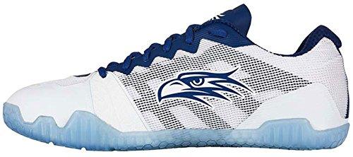 Ladies blanc bleu Indoor Salming marine Court Shoes Hawk H5Swx48
