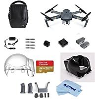 DJI Mavic Pro Fly More Combo with Accessory Standard Bundle, Includes Aircraft, Remote Controller and 3x Intelligent Flight Battery