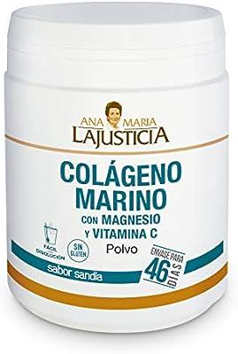 Ana Maria Lajusticia - Colágeno marino con magnesio y VIT C 350 g (sabor sandía) - Articulaciones fuertes