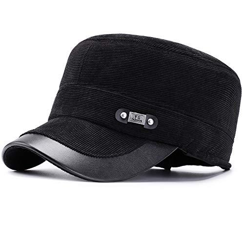 Gorra de béisbol de Pana de los Hombres con Orejeras Gorra Ajustable de  Invierno cálida del 2722a2013d0