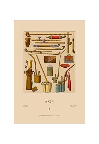 amazon com buyenlarge asian pipes print black framed poster print