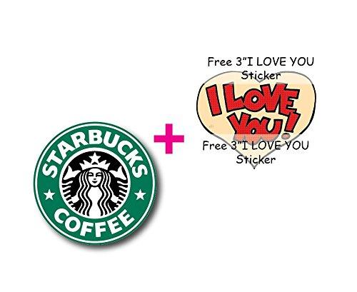 "6""Starbucks LOGO Decal Sticker for case car laptop phone bumper etc"