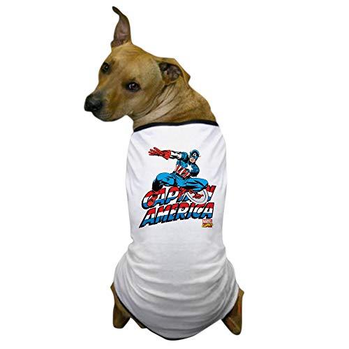 CafePress Captain America Logo Dog T Shirt Dog T-Shirt, Pet Clothing, Funny Dog Costume -