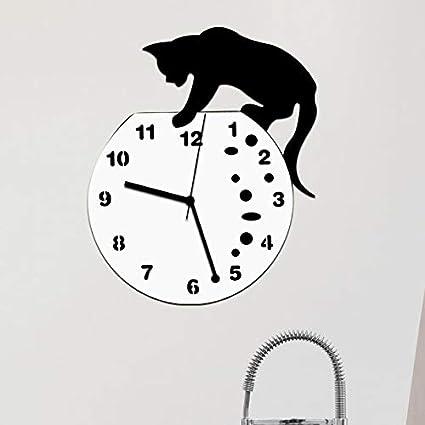 Nazaka | Wall Clock | 1 Piece Classic Cat Clock Wall Clock Modern Design Home Decor