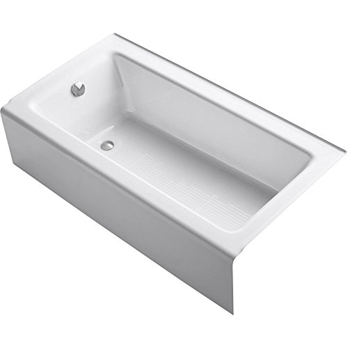 Review KOHLER K-875-0 Bellwether Bath with Integral Apron and Left-hand Drain, White