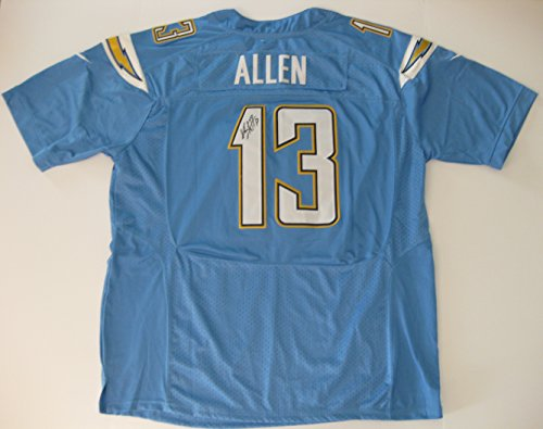 Keenan Allen, San Diego Chargers, LA Chargers, Signed, Autographed, Jersey, a Coa with the Proof Photo of Keenan Signing Will Be - Antonio Ingram San