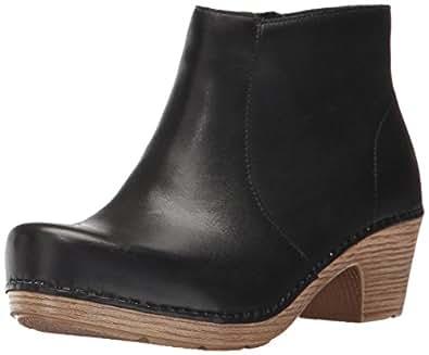 Dansko Women's Maria Ankle Bootie, Black Full Grain, 36 EU/5.5-6 M US