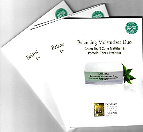 Balancing Moisturizer Duo Card Sample Set of 3 Travel Size (3x2ml Green Tea T-Zone Mattifier & 3x2ml Pomelo Cheek Hydrator)
