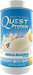 Quest Nutrition Protein Powder, Vanilla Milkshake, 22g Protein, 88% P/Cals, 0g Sugar, 3g Net Carbs, Low Carb, Gluten Free, Soy Free, 2lb Tub