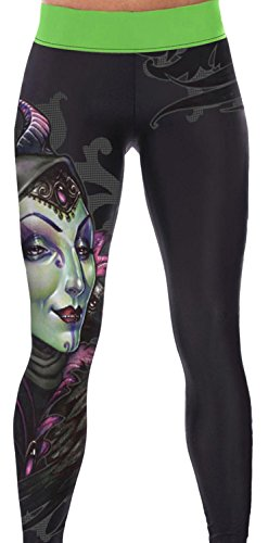 IF FEEL Coloful Skull Fashion Legging BlueItem 3D Digital Print Yoga Pants (one size, as - Canada From Us To Shipping Usps