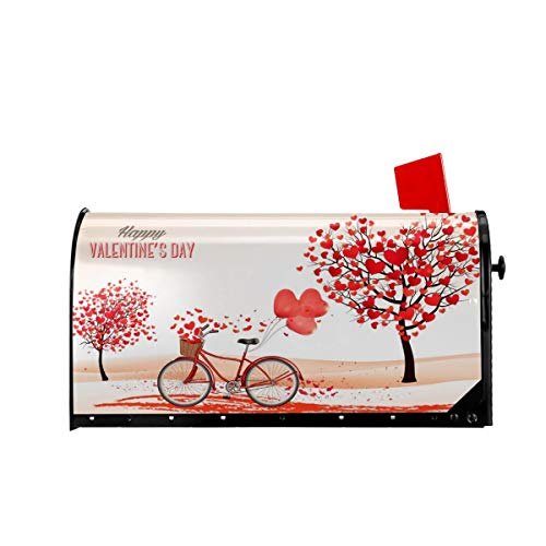 Valentine's Day Mailbox (Delerain Valentine's Day Mailbox Cover, Magnetic Mailbox Wraps Letter Post Box Home Garden Outdoor Decorative for Oversize 25.5 x 21)