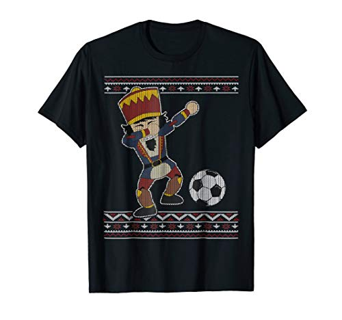(Soccer Nutcracker Dabbing T-Shirt Noel Soccer Players)