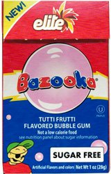 Bazooka Tutti Frutti Flavored Bubble