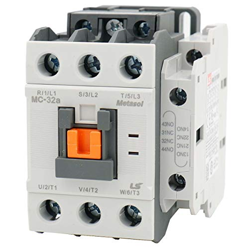 - Baomain AC Contactors Industrial Magnetic MC-32a 110VAC 50/60Hz 1a1b DIN Rail UL