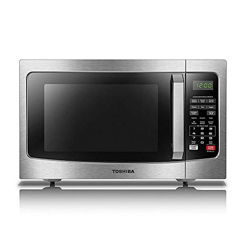 Toshiba  EM131A5C-SS Microwave Oven with Smart Sensor, Easy Clean Interior, ECO Mode and Sound On/Off, 1.2 Cu.ft, 1100W, Stainless - Microwave Camping