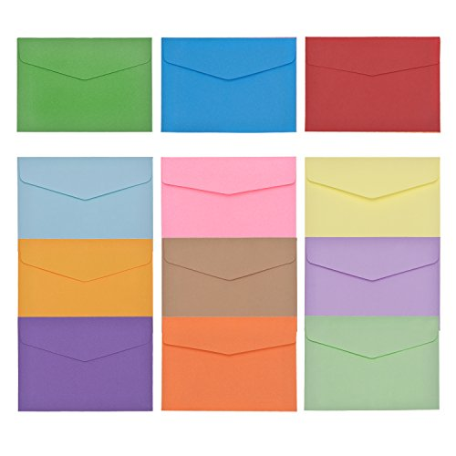 Bememo 60 Pieces Mini Envelopes Multi Color Cute Lovely Envelopes (4.6 x 3.2 Inch) for Gift Card Wedding, Birthday Party Supplies Photo #3