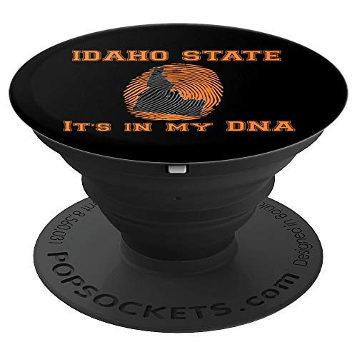 Idaho State fingerprint Outline. University font gift - PopSockets Grip and Stand for Phones and Tablets