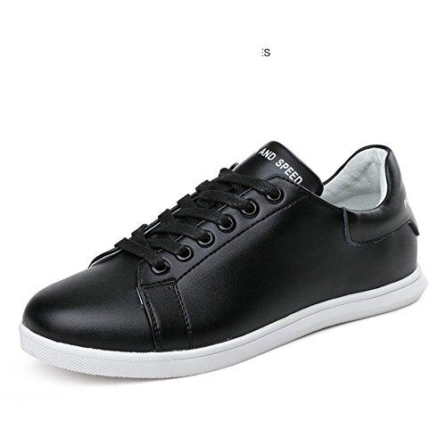 Femme Blancs Printemps Femmes chaussures Coréennes B patins Chaussures chaussures Blanc chaussures Plates Cuir Loisirs De czRP4a
