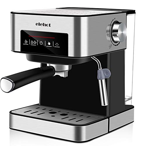 ELEHOT Espresso Coffee Machine Coffee Makers with 15 Bar Pump, Stainless Steel, 850W