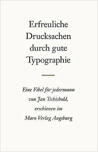 Erfreuliche Drucksachen durch gute Typografie.