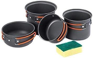 compacto y duradero equipo de cocina Ligero Naturehike Juego de utensilios de cocina para camping y senderismo al aire libre