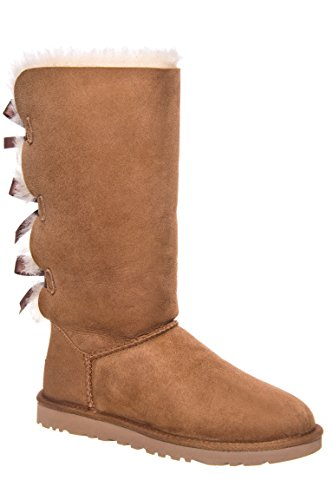 UGG Women's Bailey Bow Tall Chestnut 9 B - Medium (Baileys With Ice)