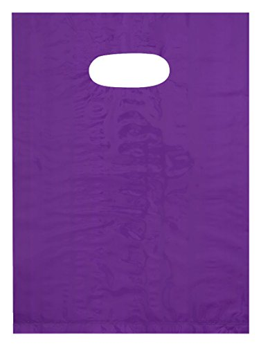 purple die cut handle plastic