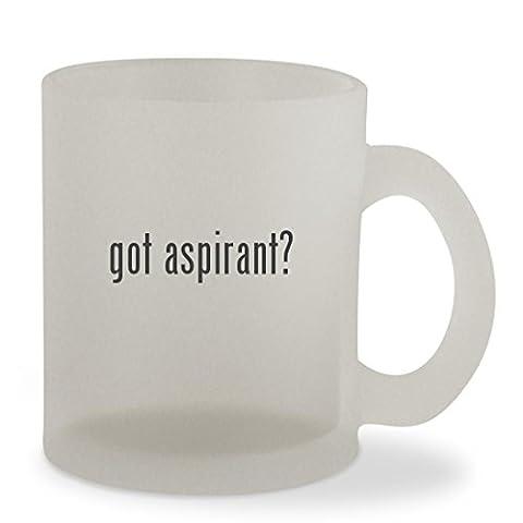 got aspirant? - 10oz Sturdy Glass Frosted Coffee Cup Mug (Nautilus Aspire Tank Glass)