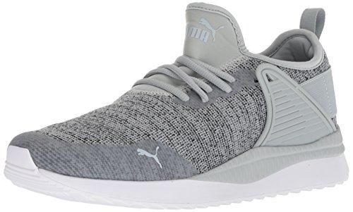 PUMA Men's Pacer Next Cage Knit Sneaker, Quarry-Iron gate, 7 M US