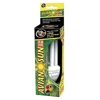 Zoo Med 24975 Avian Sun 5.0 Uvb Compact Fluorescent Lamp, 26W