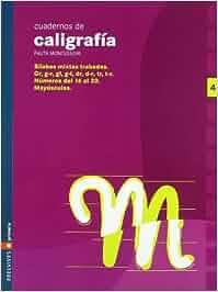 Cuaderno 4 de caligrafia Pauta Montessori: Amazon.es