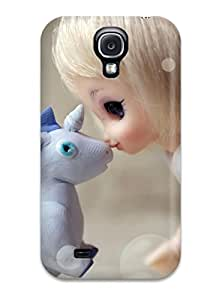 Galaxy Cover Case - Unicorn Horse Magical Animal Doll Toy Love Mood Bokeh Protective Case Compatibel With Galaxy S4