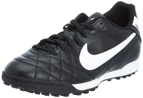 Nike Tiempo Natural IV Astro Turf Football Boots Black With White and Orange