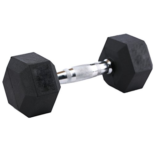 RAGE Fitness Rubber Hex Dumbbell