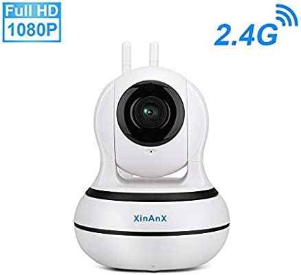 1080P Security Camera Wireless WiFi IP Camera Indoor Night Vision/2-Way  Audio 2 4Ghz Surveillance Pan/Tilt/Zoom Camera Motion Detection for