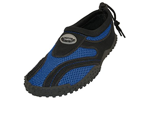 childrens-kids-wave-water-shoes-pool-beach-aqua-socks-2-m-us-little-kid-royal