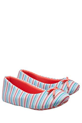 next Mujer Pantuflas estilo bailarinas Corte Regular A rayas multicolores