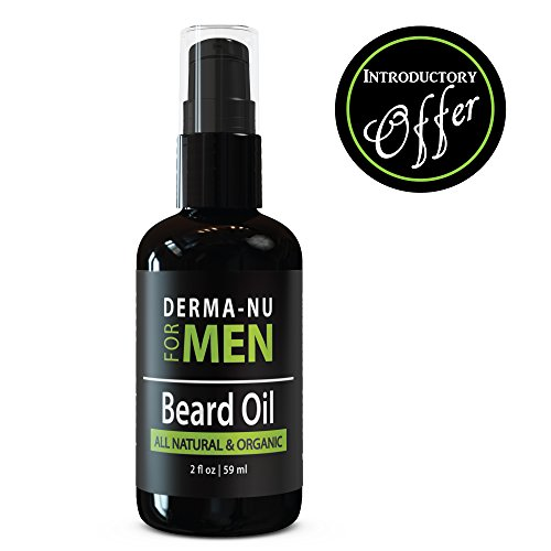 Price comparison product image Beard Oil & Conditioner by Derma-nu for Men - Best Facial Hair Grooming Product. Organic, All Natural Formula Enriched with Argan, Avocado & Jojoba Oil for a Strong, Healthy Beard