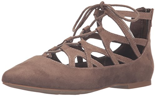 MIA Women's Anamarie Pointed Toe Flat Spring Taupe