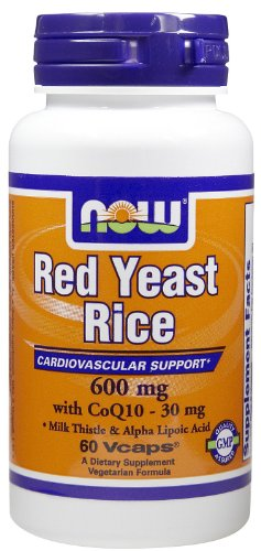 RED YEAST RICE & COQ10 FORMULA, 60 Vcaps by Now Foods (Pack of 6) by Now Foods (Image #1)