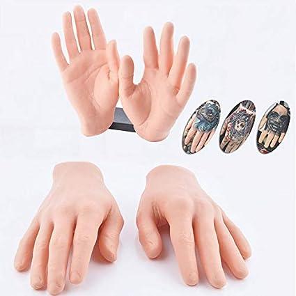Amazoncom 1pc 3d Fake Hand Tattoo Practice Skin Silicone