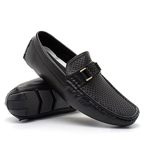 Mens New Slip On Casual Boat Deck Mocassin Designer Loafers Driving Shoes Size Black R7xdpEb