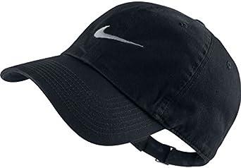 Nike Heritage86-Swoosh Gorra de Tenis, Hombre, Negro (Black/White ...